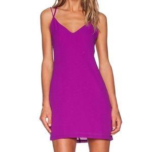 REVOLVE Three of Something Cocktail Magenta Dress